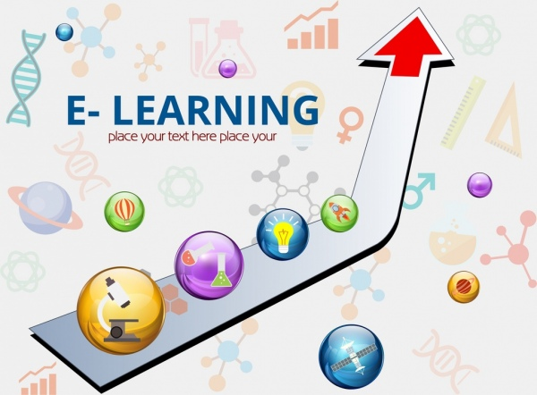 E Learning Banner 3d Arrow Colorful Circles Decoration Free Vector In Adobe Illustrator Ai Ai Format Encapsulated Postscript Eps Eps Format Format For Free Download 4 56mb