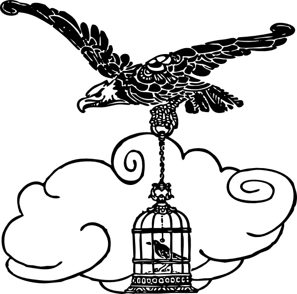 Eagle And Nightingale clip art