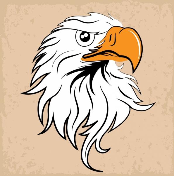 eagle head icon design classical style