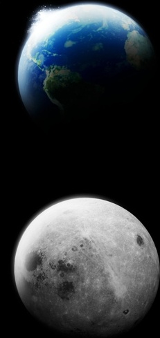 earth and moonpsd layered