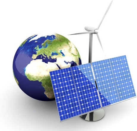 earth and solar energy highdefinition picture