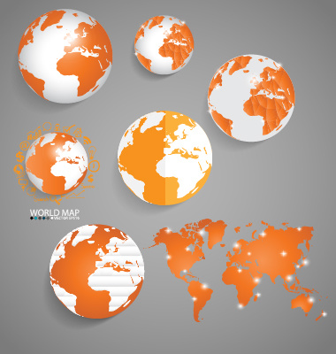 earth and world map vector design