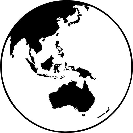 Earth Globe Oceania Clip Art Free Vector 130.55KB