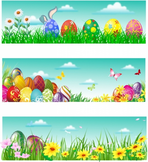 easter banner free vector in adobe illustrator ai ai