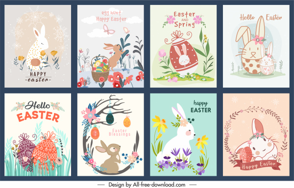 easter banner templates colorful classical cute decor