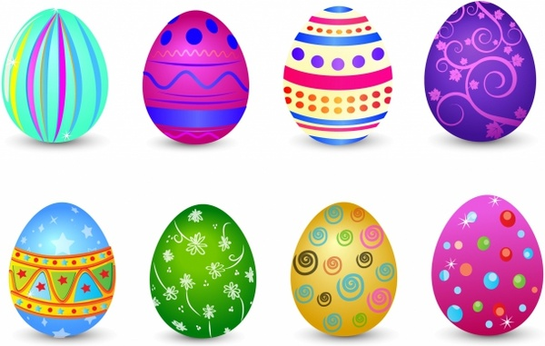 Easter Eggs Vector Free Vector Download (970 Free Vector