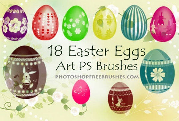 Easter Eggs Brushes