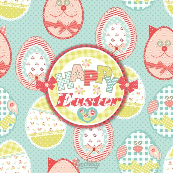 easter themed seamless background free vector in adobe illustrator