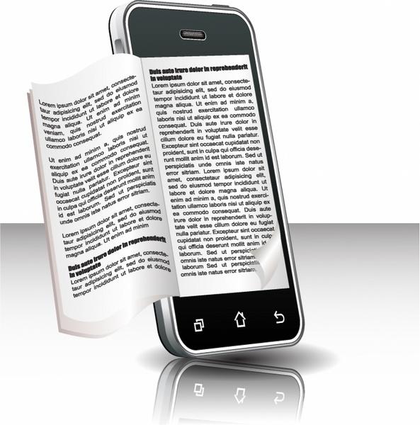 Ebook in smart phone