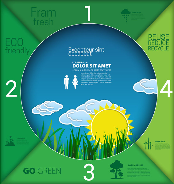 eco banner design with circle infographic style