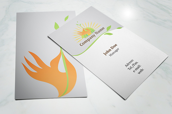 Eco friendly business card template free vector in adobe illustrator eco friendly business card template colourmoves