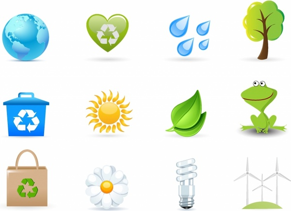 Eco Friendly Icons Free Vector In Adobe