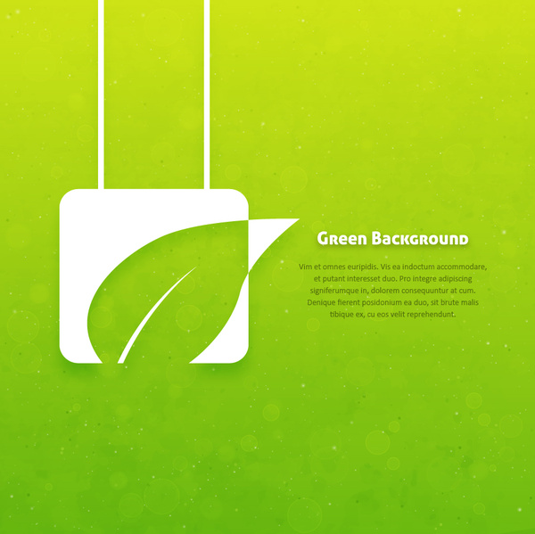 Eco Green Background Concept Free Vector In Adobe