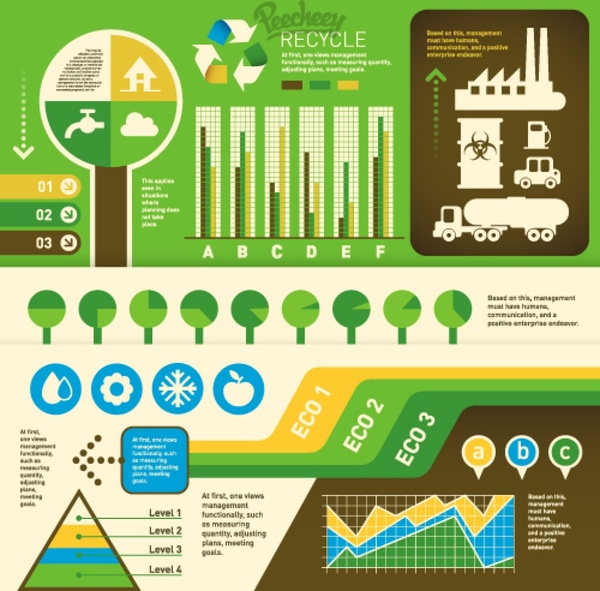 eco green infographics