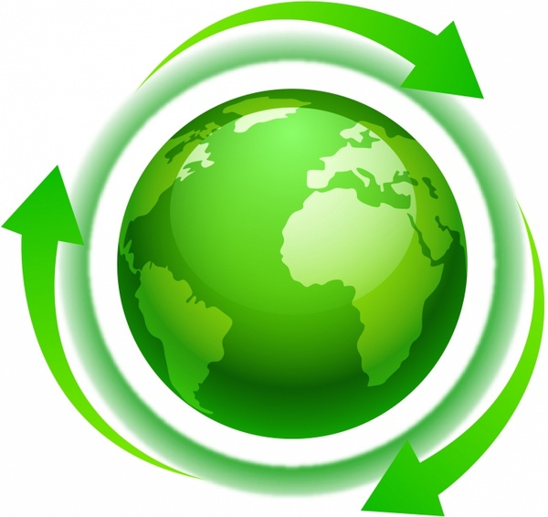 Eco Green World Or North America With Arrows Free Vector In Adobe