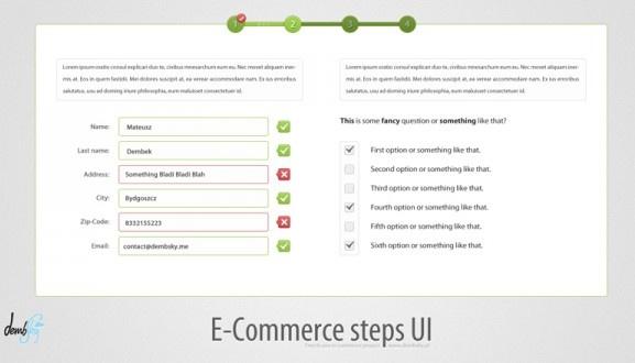 E-Commerce Steps UI