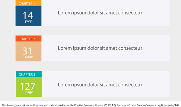 Editable table of contents vector Free vector in Adobe