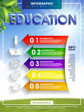 Education And Teaching Business Infographics Vector