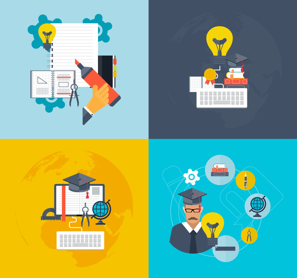 Education vector illustration with school tools Free ...