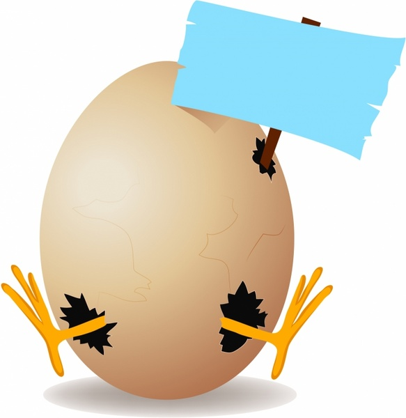 egg with copy space