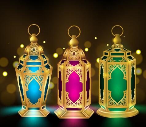 Eid Mubarak Colored Lights Vector Free Vector In Encapsulated Postscript Eps Eps Vector Illustration Graphic Art Design Format Format For Free Download 1 85mb