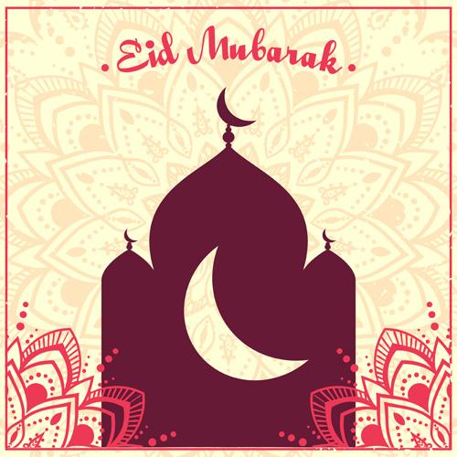 eid ornament floral art background vector