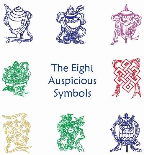 Eight Auspicious Symbols Vector Graphic Free Vector In Encapsulated