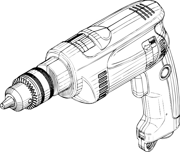 Electric Drill Clip Art Free Vector In Open Office Drawing Svg
