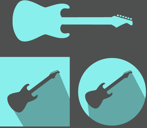 Electric Guitar Vector Icon Design Free Vector In Adobe Illustrator