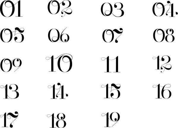 Elegant art numbers vector Free vector in Coreldraw cdr ...