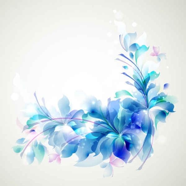 Elegant Blue Flower Background Free Vector In Adobe Illustrator Ai