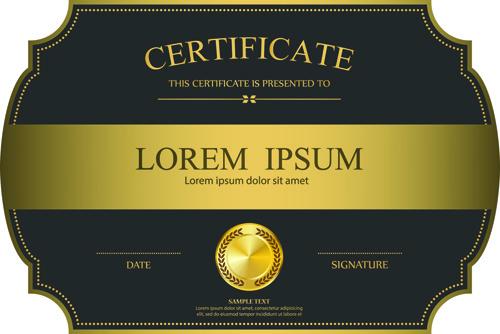 elegant certificate template vector design free vector in