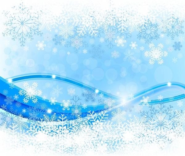 Christmas Background Bright Blue White Snowflakes Curves Decor Free Vector In Adobe Illustrator Ai Ai Vector Illustration Graphic Art Design Format Encapsulated Postscript Eps Eps Vector Illustration Graphic