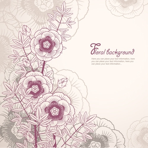 elegant floral background 02 vector