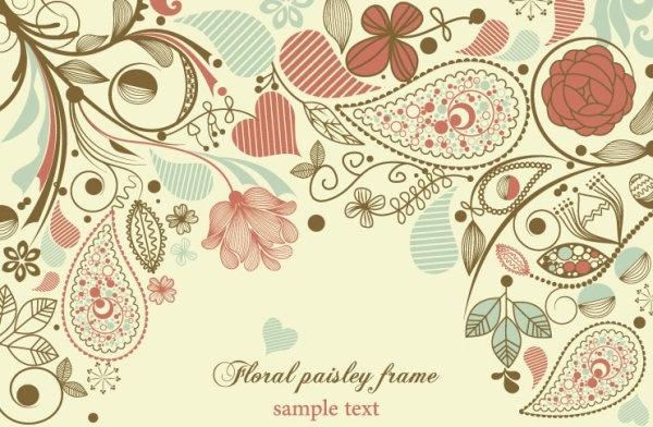 elegant floral background pattern 01 vector
