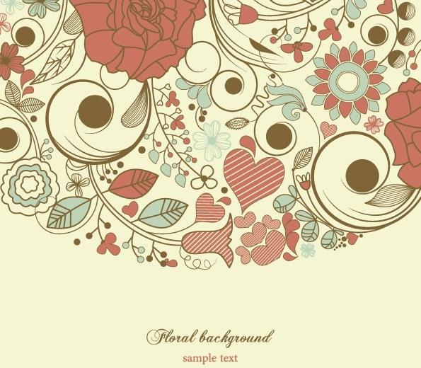 elegant floral background pattern 03 vector