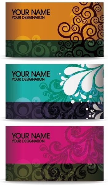 Elegant Floral Business Card Vector