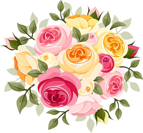 Elegant Flowers Bouquet Vector Free Vector In Encapsulated