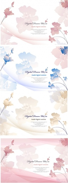 elegant flowers vector background