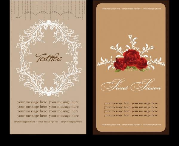 Elegant Folding Invitation Card Vector