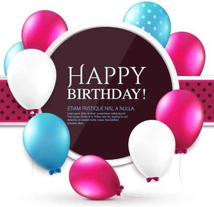 Elegant Happy Birthday Balloon Background Vector Free Vector In
