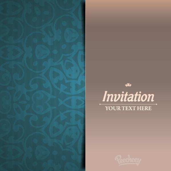 Elegant Invitation Card Free Vector In Adobe Illustrator Ai