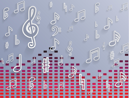Music Notes Background: Free Vector Music Notes Free Vector Download (3,505 Free