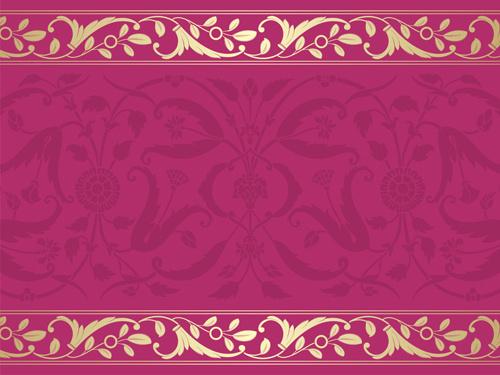 elegant ornament floral borders seamless vector