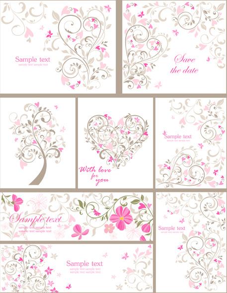 elegant ornaments floral background vector