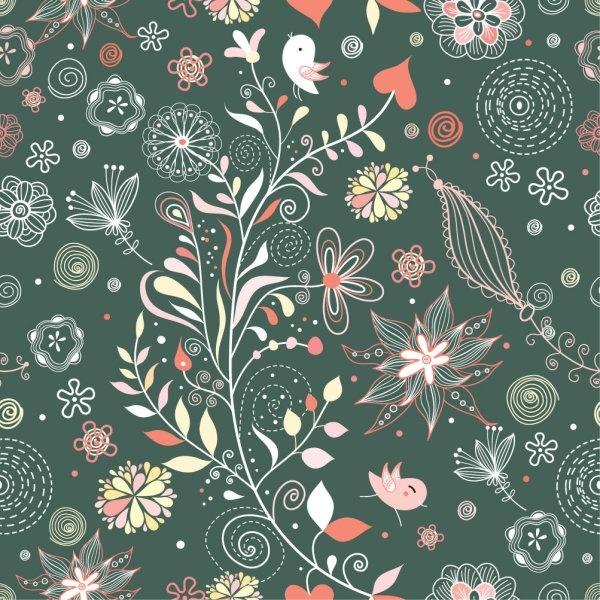 elegant pattern illustration background 02 vector