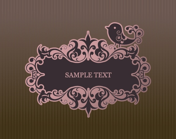 cover design elements elegant symmetric vintage curves frame
