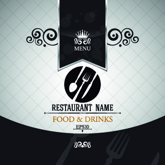 elegant restaurant menu design vector free vector in encapsulated