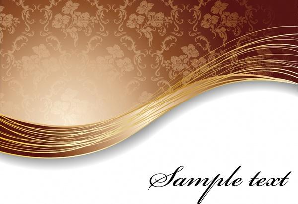 decorative background brown curves decor classical dynamic design
