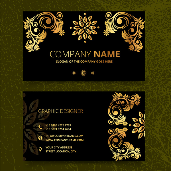 Elegence vintage business card templates free vector in adobe elegence vintage business card templates flashek
